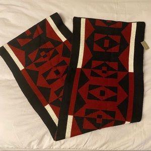 J CREW | NWT 100% Wool Scarf Black Red White